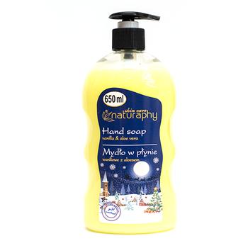 Naturaphy – Sapun lichid pentru iarna cu parfum de vanilie si extract de aloe vera