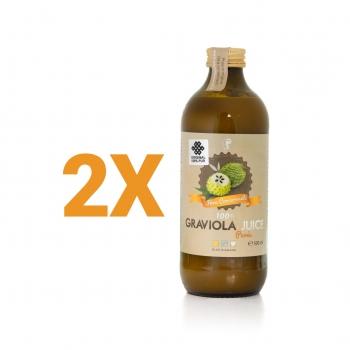Pachet promotional 2x Graviola Juice 100 % puree