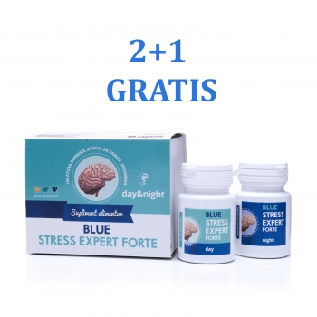 3X BLUE STRESS EXPERT FORTE 24 Day&Night - supliment antistress 100% natural
