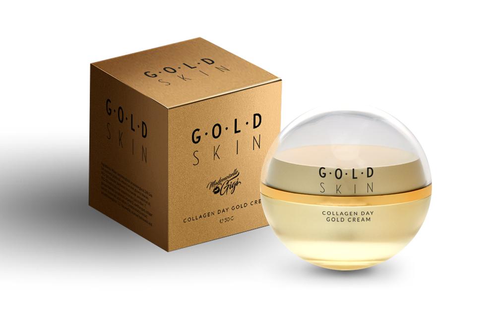 Crema de zi cu colagen si aur 24K