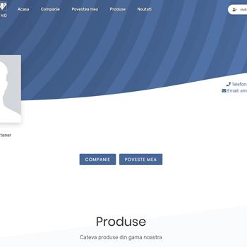 Site prezentare Dezvoltator de afacere