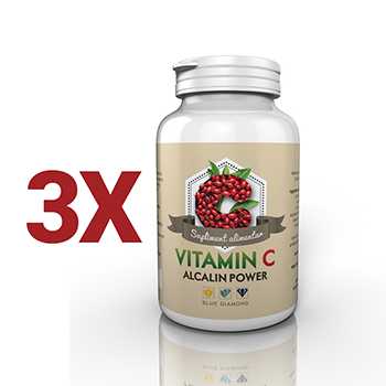 PACHET PROMOTIONAL 3 Vitamina C Alcalin Power – Vitamina C din ascorbat de calciu, m...