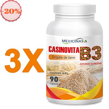 Pachet promotional 3 x Casinovita B3 – Drojdie de bere