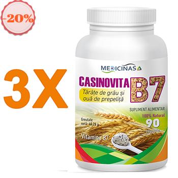 Pachet promotional 3 x Casinovita B7 – Tărâțe de grâu și ouă de prepeliță